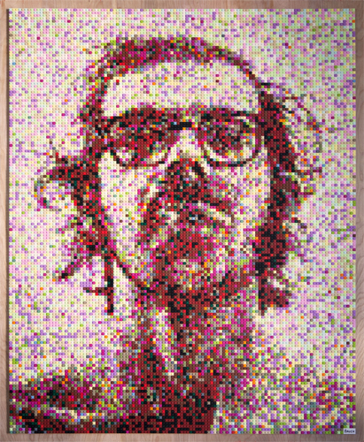 Andy Bauch, Chuck Close, 2016, courtesy of the artist