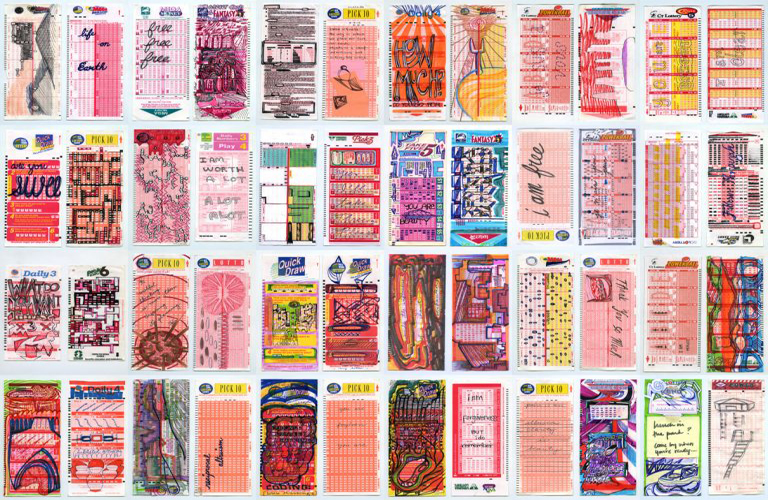 Malado Baldwin, My Lotto Tickets, 2014, courtesy of the artist