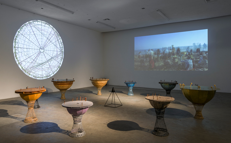 Katie Grinnan, The Astrology Orchestra, installation view at the Human Resources, a LAND (Los Angeles Nomadic Division) exhibition, 2014, photograph by Jeff McLane