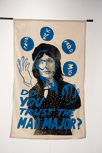 Mariah Garnett, Do You Trust The Mad Major - Maura, 2018. Graphics appropriated from The Poster Workshop.